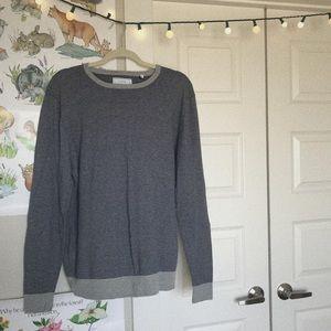 Blue/Grey Striped Pullover